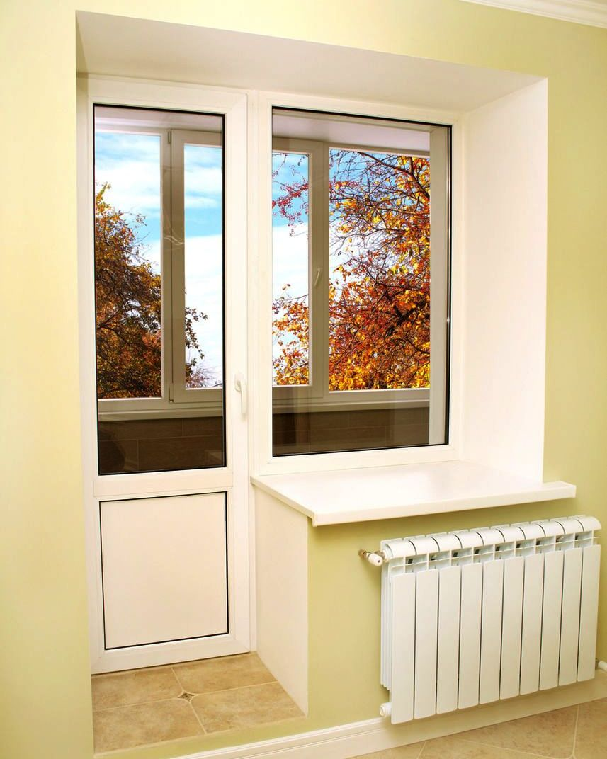 Установка балконного блока лоджия. - новый дизайн окон - кат.